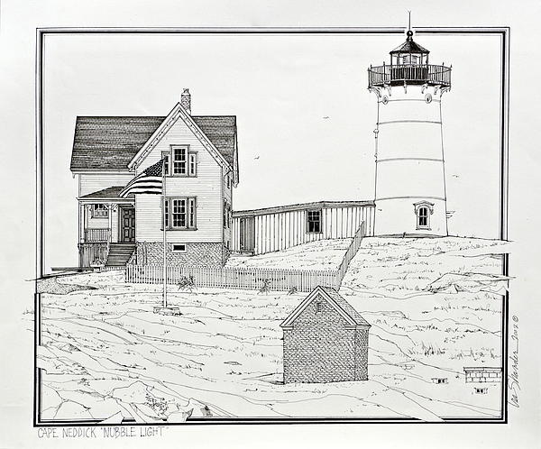 Nubble Light Print by Ira Shander