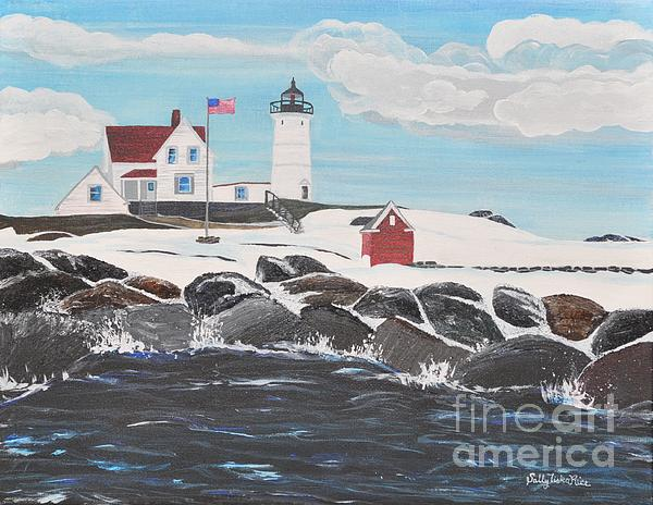 Nubble Lighthouse Print by Sally Rice