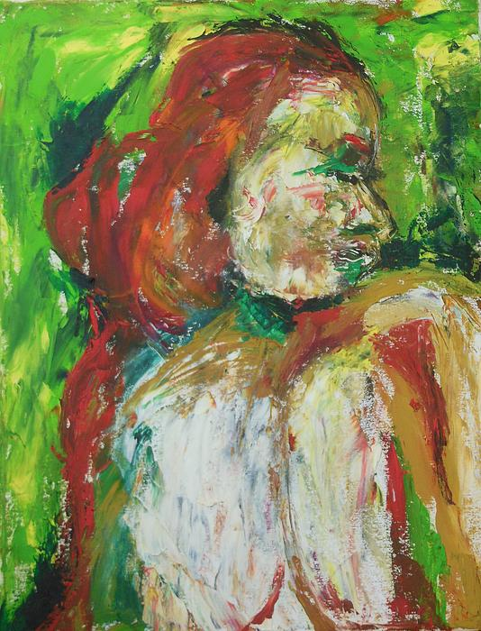 Esther Newman-Cohen - Nude in Light Green