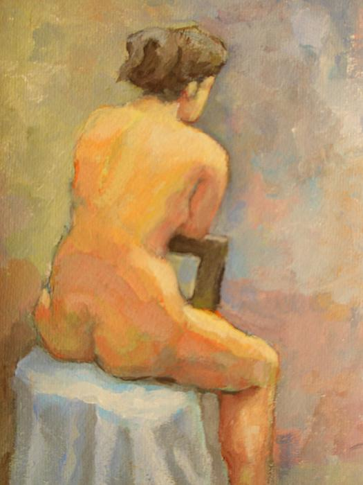 Nude Painting  4 Print by Alfons Niex