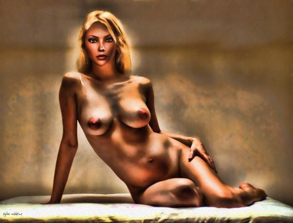 Nude Reclining Print by Tyler Robbins