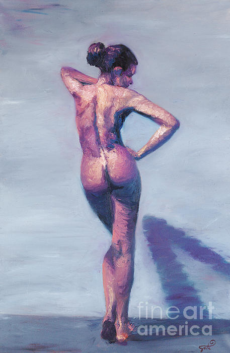 Nude Woman In Finger Strokes Print by Shelley Irish