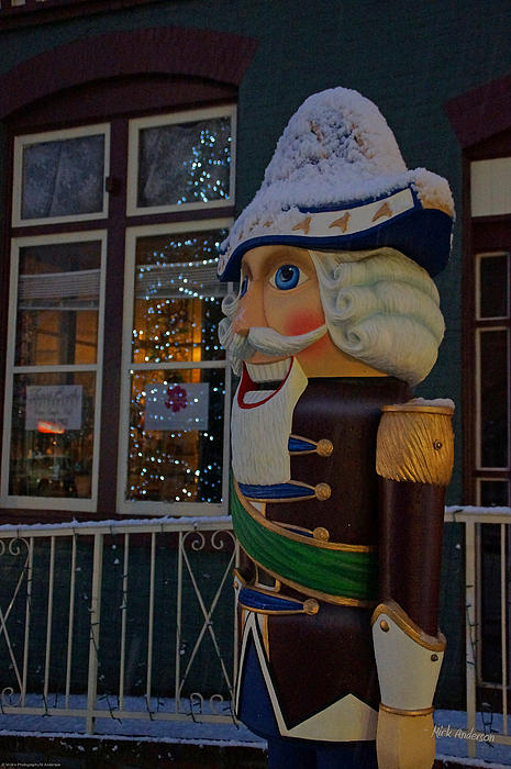 Nutcracker Statue In Downtown Grants Pass Print by Mick Anderson