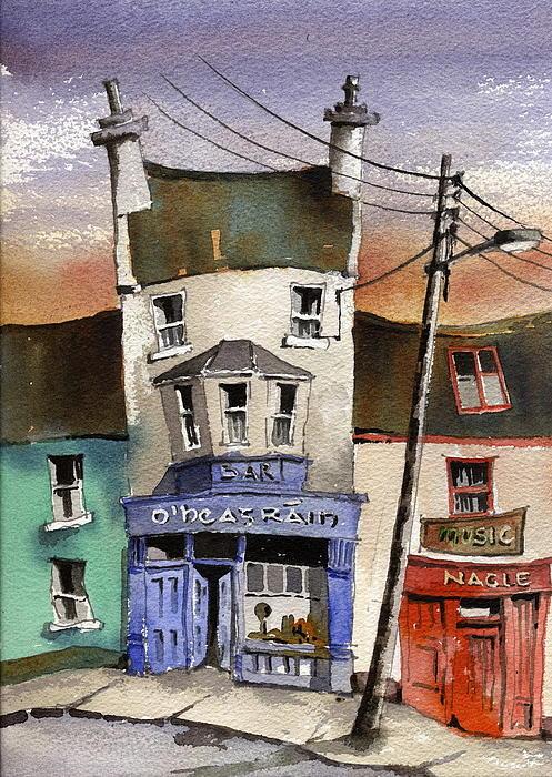 O Heagrain Pub In Ennistymon   Clare Print by Val Byrne
