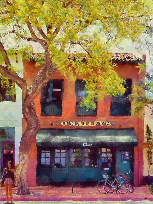 O Malleys Bar Santa Barbara Print by Viktor Savchenko