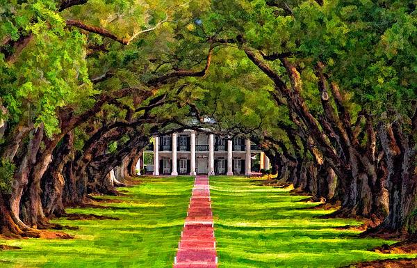 Oak Alley Paint Version Print by Steve Harrington