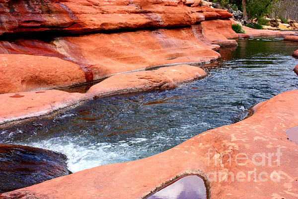 Oak Creek At Slide Rock Print by Carol Groenen