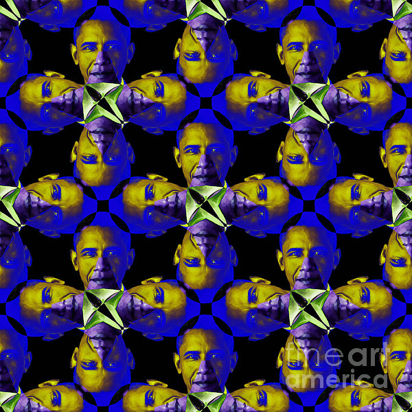 Obama Abstract 20130202m118 Print by Wingsdomain Art and Photography