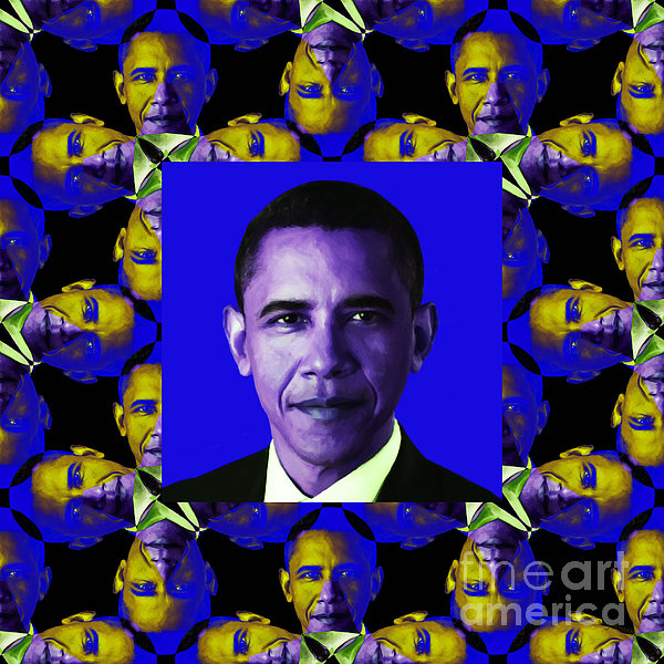 Obama Abstract Window 20130202m118 Print by Wingsdomain Art and Photography