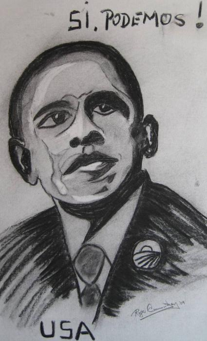 Obama Print by Roger Cummiskey