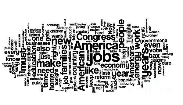 Obama State Of The Union Address - 2013 Print by David Bearden