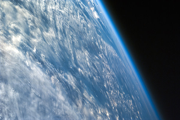 Oblique Shot Of Earth Print by Adam Romanowicz