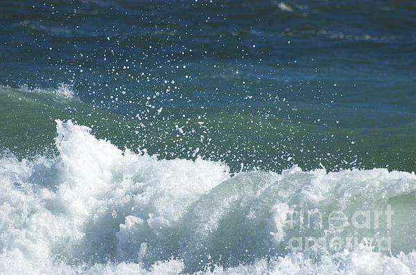 Ocean Blue Surf Print by Adspice Studios