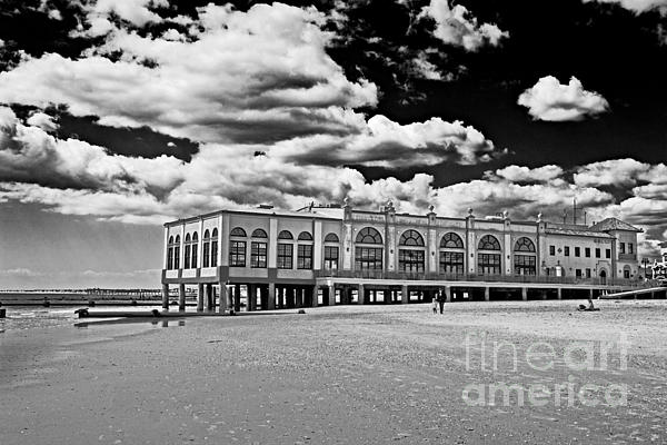 Ocean City Music Pier In Black And White Print by Tom Gari Gallery-Three-Photography
