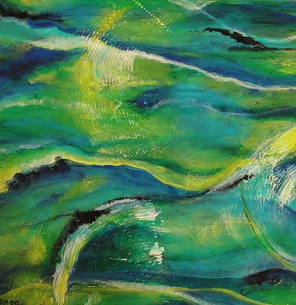 Ocean Currents 1 Print by Chris Keenan
