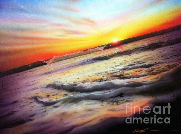 'ocean Infinity' Print by Christian Chapman Art