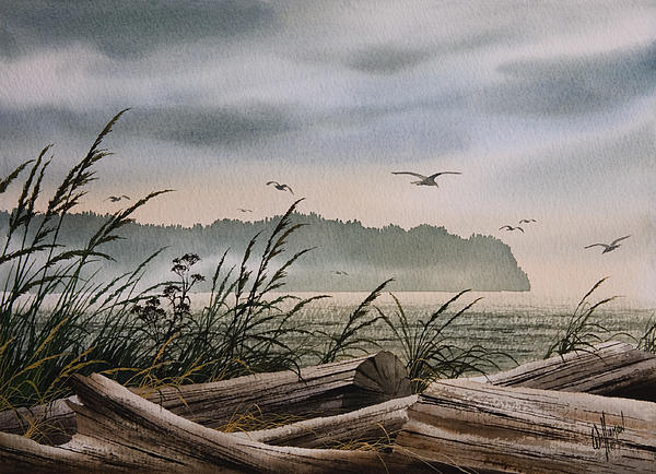 Ocean Shore Print by James Williamson