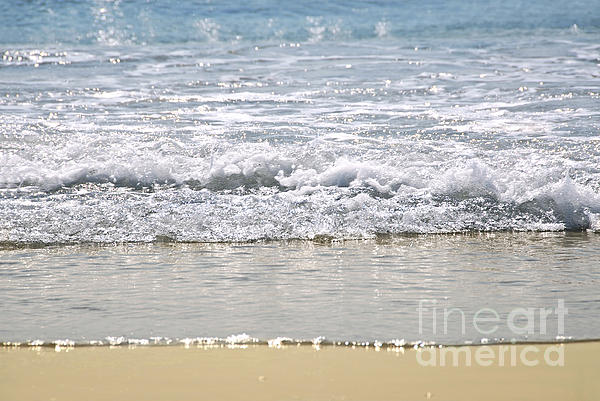 Ocean Shore With Sparkling Waves Print by Elena Elisseeva