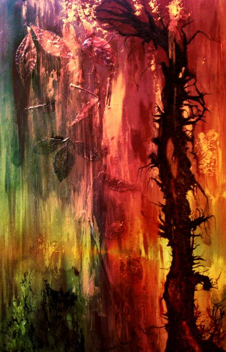 October Abstract Print by Patricia Motley
