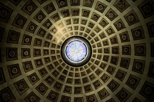 Oculus At The Baths Of Diocleian Print by Joan Carroll
