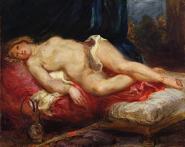 Odalisque Print by Ferdinand Victor Eugene Delacroix