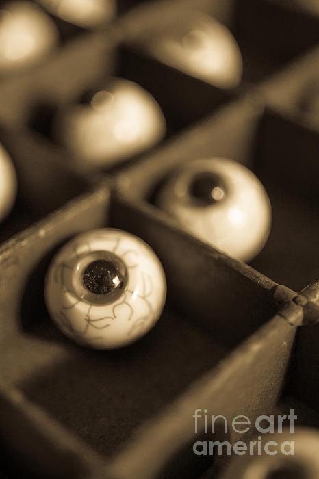 Oddities Fake Eyeballs Print by Edward Fielding