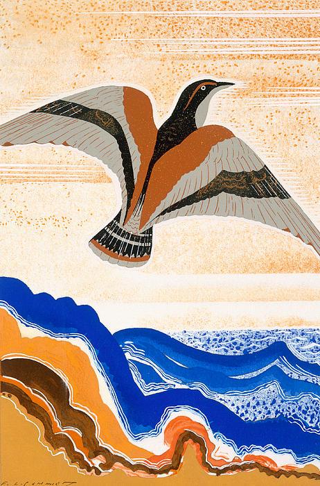 Odyssey Illustration  Bird Of Potent Print by Francois-Louis Schmied