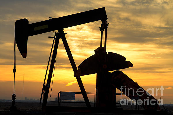 Oil Well Pump Sunrise Print by James BO  Insogna