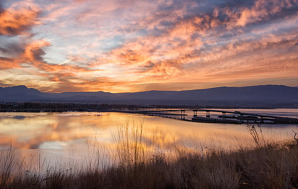 Allan Van Gasbeck - Okanagan Lake Bridge Sunrise