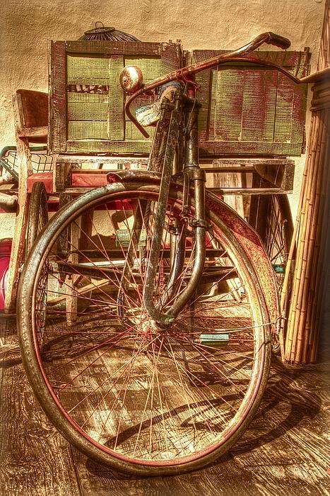 Ol' Rusty Antique Print by Debra and Dave Vanderlaan