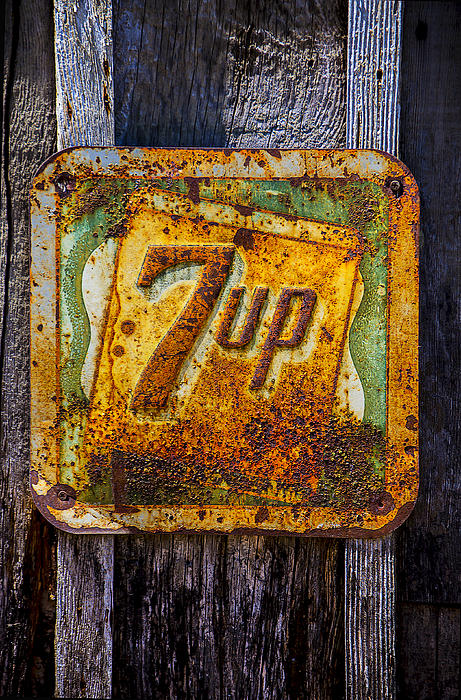 Old 7 Up Sign Print by Garry Gay
