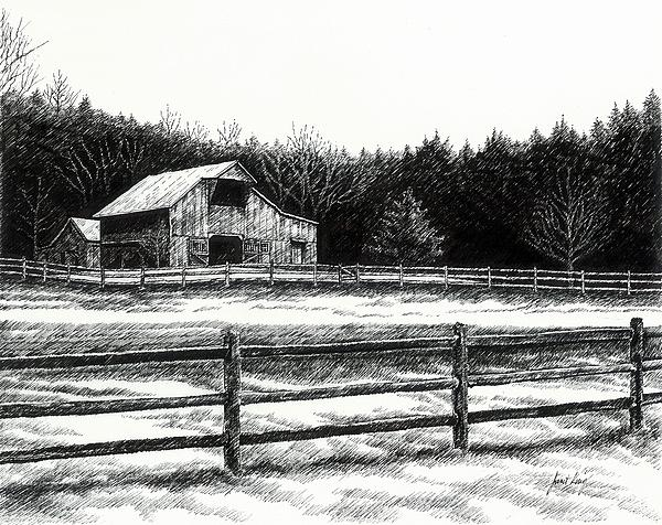 Old Barn In Franklin Tennessee Print by Janet King