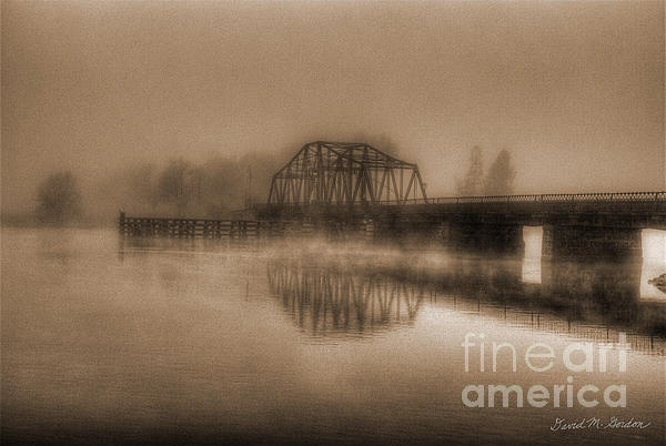 Old Berkley Dighton Bridge Print by David Gordon