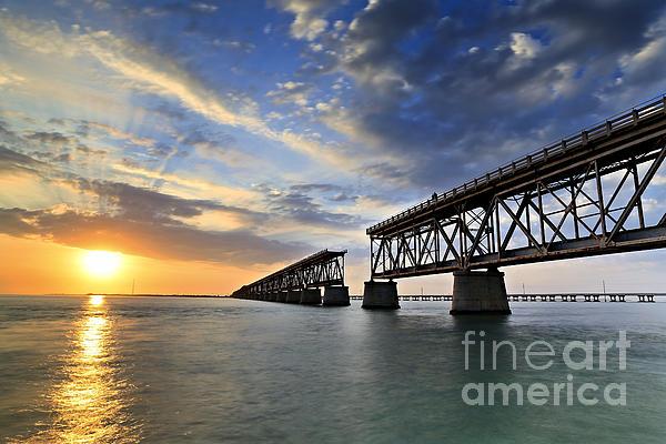 Old Bridge Sunset Print by Eyzen M Kim