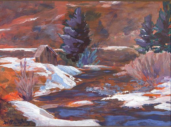 Joan Willoughby - Cabin by a Mountain Stream