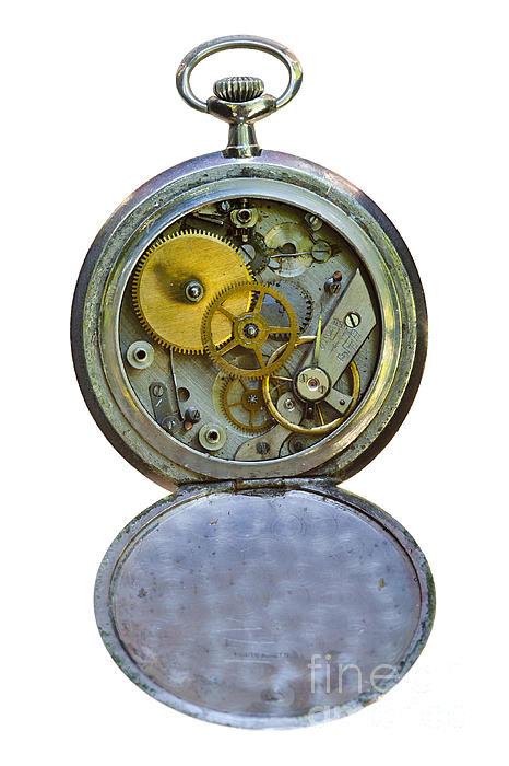 Old Clock Print by Michal Boubin