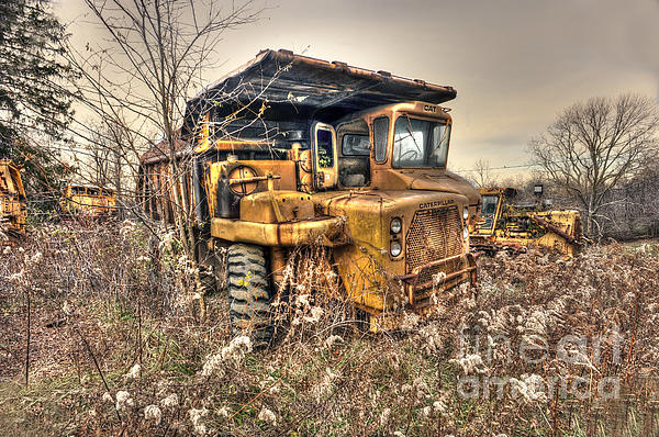Old Construction Truck Print by Dan Friend