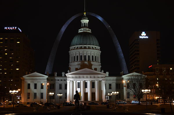 William Wilcox - Old Courthouse and Gateway Arch 2