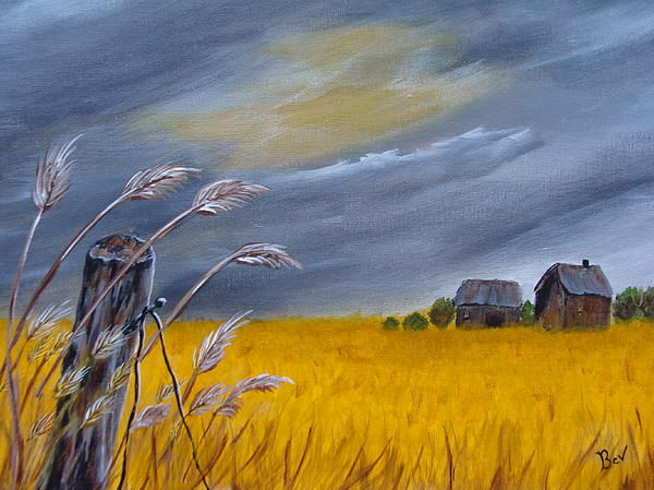 Old Farm 1 Print by Beverly Livingstone