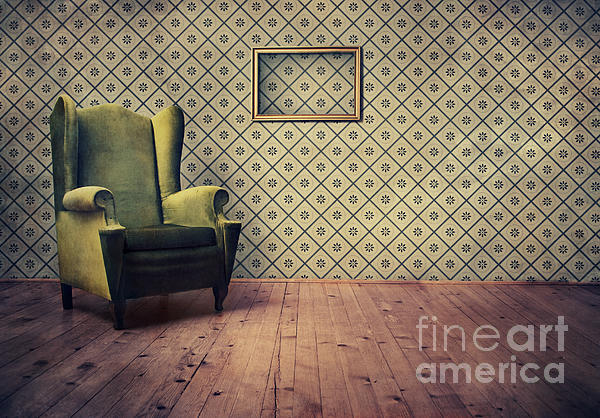 Old Fashioned Armchair Print by Jelena Jovanovic