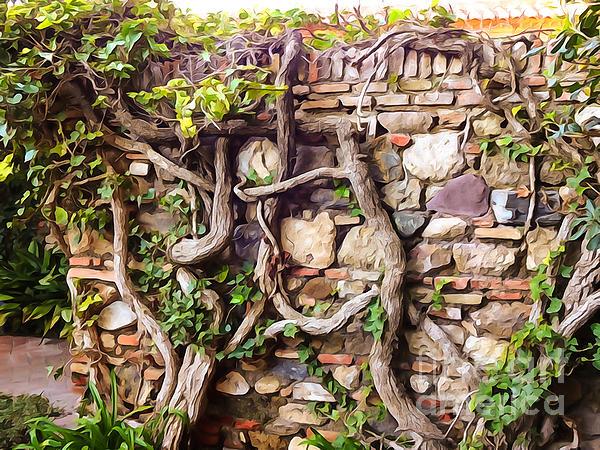 Old Garden Wall Print by Lutz Baar