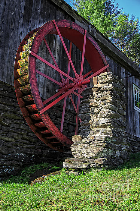Old Grist Mill Vermont Print by Edward Fielding