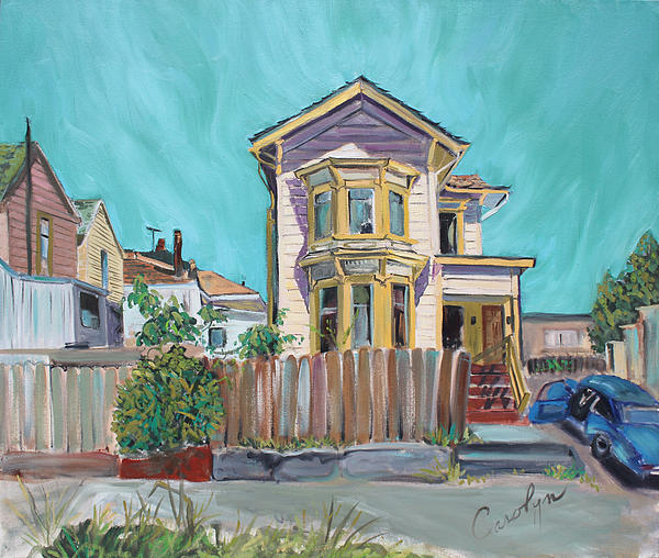 Old House In East Oakland Print by Asha Carolyn Young