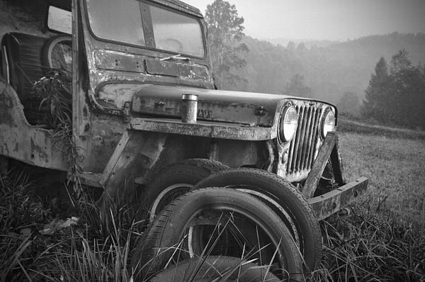 Old Jeep Print by Jerry Mann