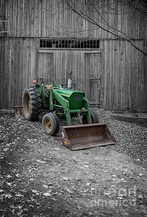 Old John Deere Tractor Print by Edward Fielding