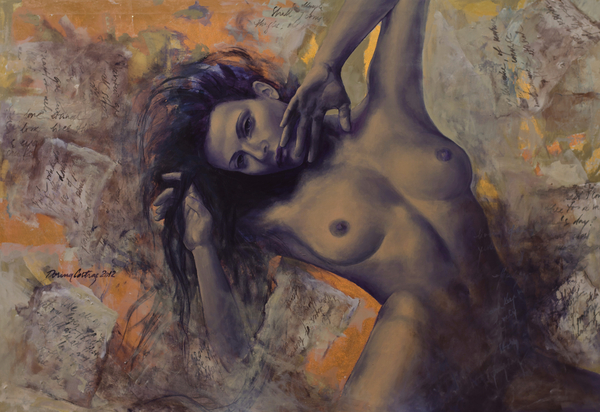 Old Love Letters Print by Dorina  Costras