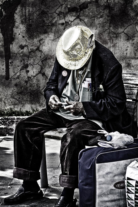 Old Man Print by Erik Brede