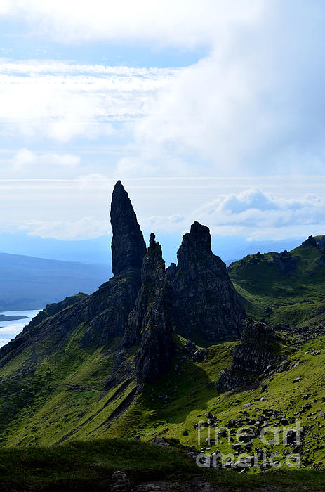 Old Man Of Storr Vista In Scotland Print By Dejavu Designs