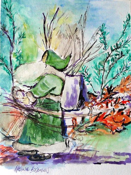 Old Man Winter Print by Helena Bebirian