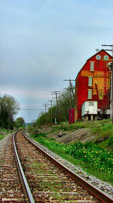 Old Mill On The Tracks Print by Julie Dant